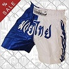 FIGHT-FIT - Muay Thai Shorts / White n Blue