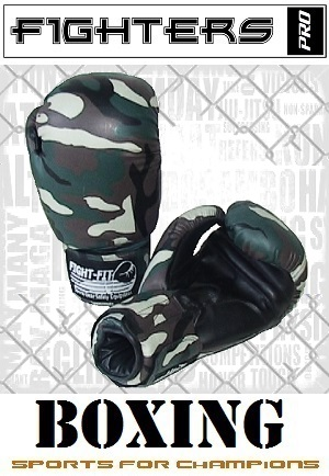 FIGHTERS - Boxhandschuhe / Camouflage / 10 oz